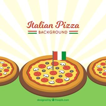 Sfondo pizza italiana