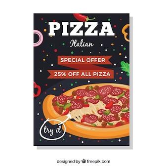 Brochure di offerta pizza italiana