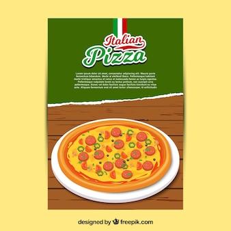 チーズパンフレット付きイタリアンピザ