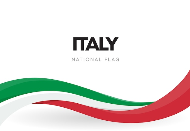 The italian republic waving flag