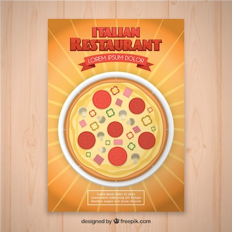 Volantino del ristorante italiano