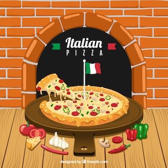 Italian restaurant menu background