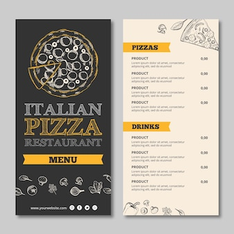 Italian restaurant template flyer design concept