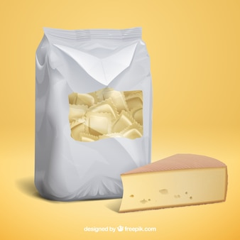 Итальянский тортиллини и сыр