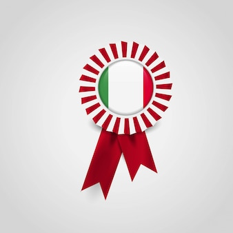 Italy flag badge design vector