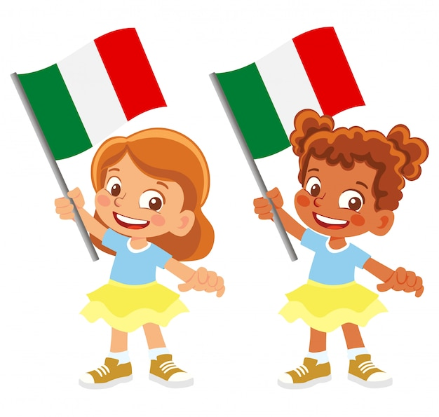 Italy flag in hand set