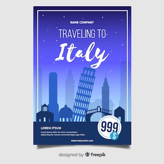 Italy flyer template