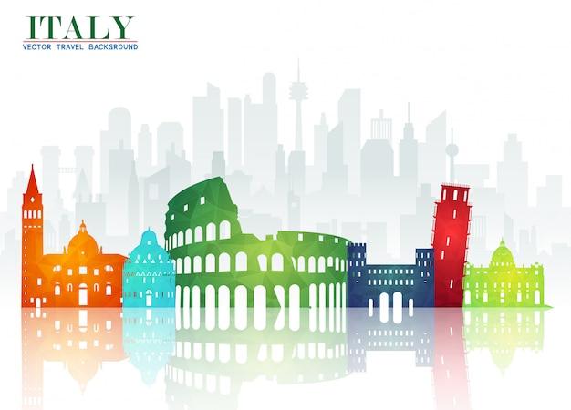 イタリアのランドマーク、グローバルトラベルアンドジャーニー紙