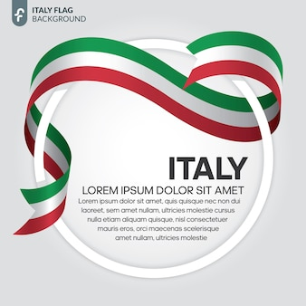 Italy ribbon flag vector illustration on a white background