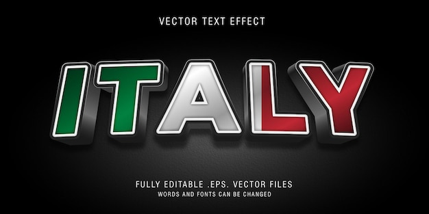 Italy text style effect