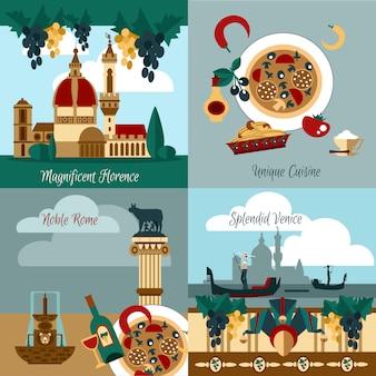 Italy touristic set