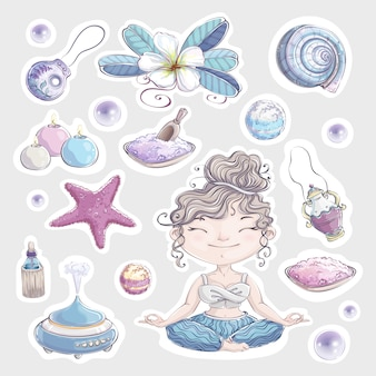 Items and accessories for sea spa and aromatherapy.