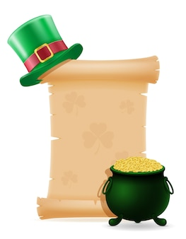 Items and attributes of the national holiday of saint patrick  illustration isolated on white background