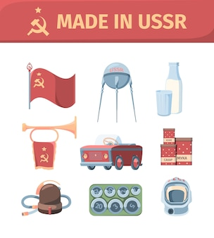 Items made in ussr set