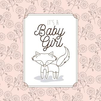 そのキツネの赤ちゃんの女の子のフレーム