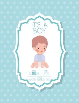 Это карта детского душа мальчика с маленьким ребенком