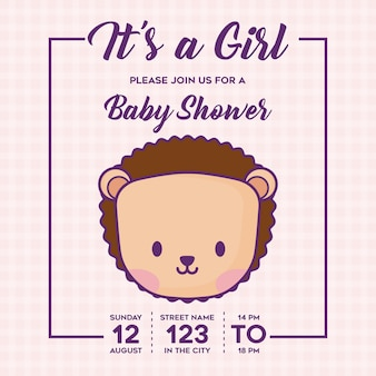 その女の子ベビーシャワーの招待状