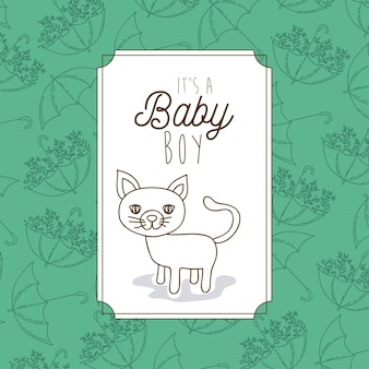 Its a baby boy frame with cat