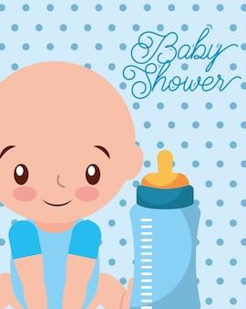 Its a boy baby and feeding bottle card