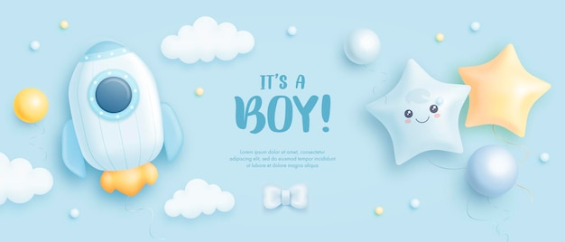 Its a boy baby shower background