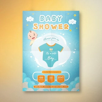 Its a boy baby shower invitation card