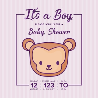Its a boy baby shower invitation