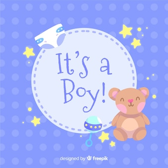 Its a boy baby shower template