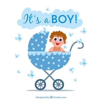 Its a boy background with cart