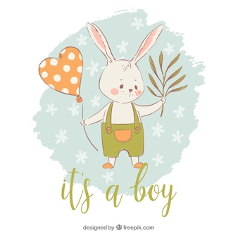 Its a boy background with rabbit