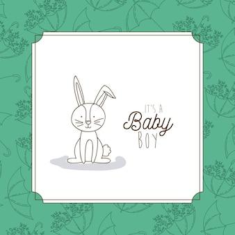 Its a boy hand draw invitation card
