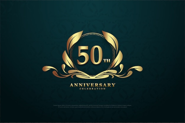 Its fiftieth anniversary with golden glittering numbers and unique symbols