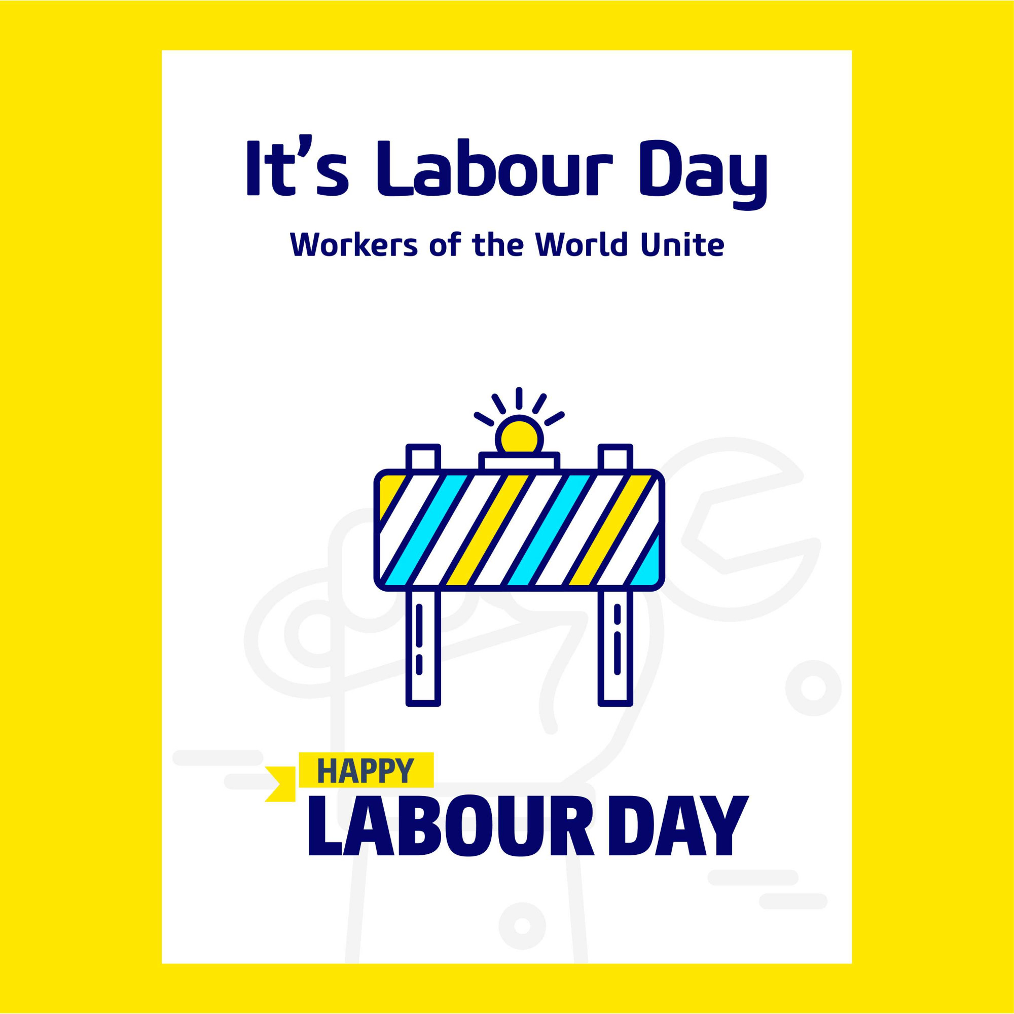 Its Labour Day Poster design