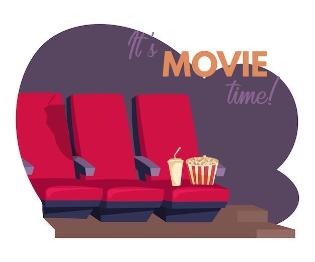 Its movie time banner template