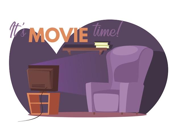 Шаблон баннера времени фильма
