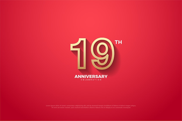 Its nineteenth aniversary with a slightly faded red background
