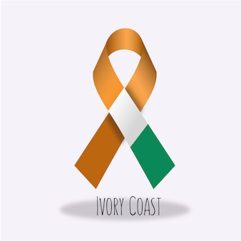 Ivory coast flag ribbon design