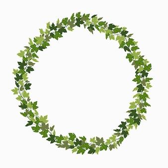 Ivy wreath green creeper circle frame