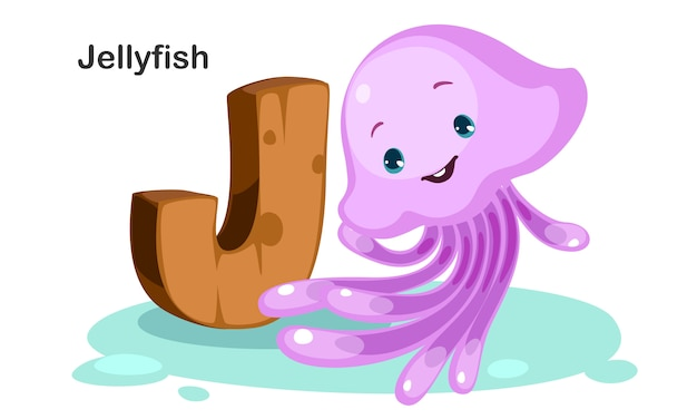 J for jellyfish