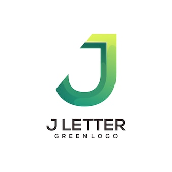 J letter logo gradient abstract colorful