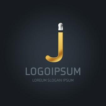 J логотип золото и серебро
