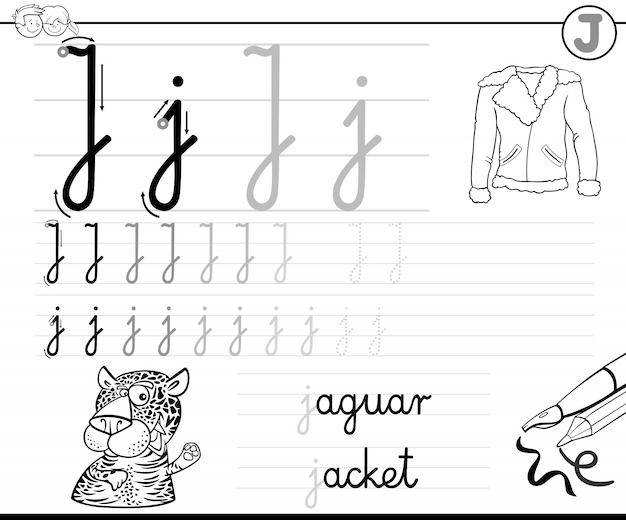 Научиться писать буклет j для детей