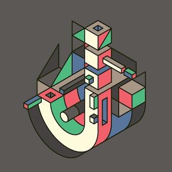 Jレターデザイン