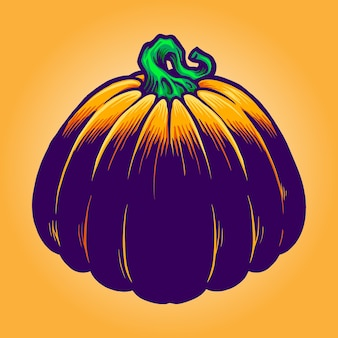 Jack o lantern pumpkins vector illustrations for your work logo, mascot merchandise t-shirt, stickers and label designs, poster, greeting cards advertising business company or brands.