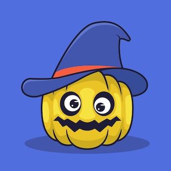 Джек о фонарь использует иллюстрацию шляпы ведьмы