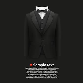 Jacket over a black background. vector illustration