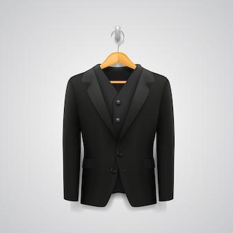 Jacket on a hanger art. vector illustration