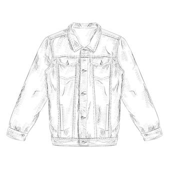 손에 재킷 일러스트 디자인을 그려.