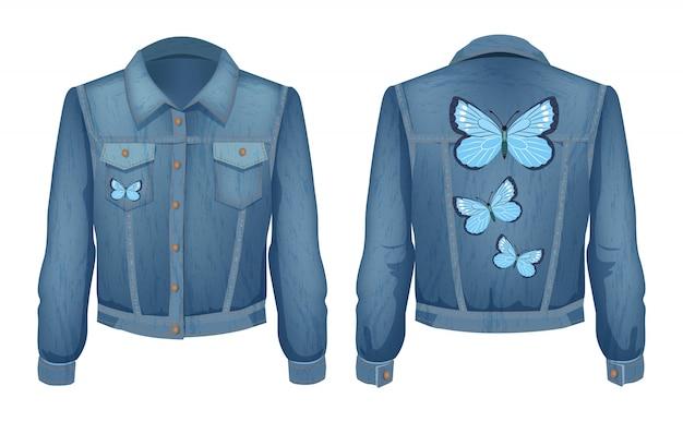 Jacket made of denim patch illustration