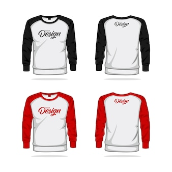 Jacket sweater raglan template