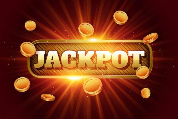Sfondo di jackpot con monete d'oro volanti